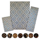 3 Pc Set Modern Contemporary Geometric Area Rug Runner Accen