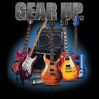 GEAR UP.. GUITARS T-SHIRT (UNISEX FIT) ROCK BAND GUITARS MUSIC