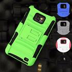 Full Armor Impact Hybrid Case Cover Belt Clip for Samsung Galaxy S2 i9100 i777
