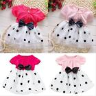 Baby Girls Kids Summer Short Sleeve Tutu Dress Bowknot Outfits Clothes 1-7 Years