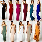 Quality Stylish Women Vest Tank Cotton Stretch Casual Summer Maxi Long Dress