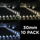 Woodside Set Of 10 30mm Aluminium LED Decking Deck Plinth Lights