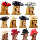 Ladies Women's Elegant Fascinator Hat Veil Hat Feather Mesh Wedding Races