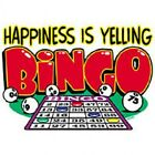 HAPPINESS IS YELLING BINGO UNISEX T-SHIRT NOVELTY BINGO PARTY