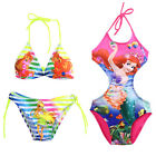 Girls Beauty Mermaid Bikini Swimsuit Swimming Costume Set Swimwear Age 2-10Year