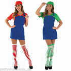 90s Video Game Plumber Adult Womens Sexy Fancy Dress Hen Night Party Costume PS