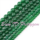 DIY JEWELRY MAKING FACETED ROUND GREEN JADE GEMSTONE SPACER BEADS STRAND 15""