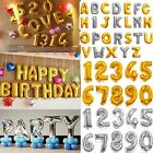 """16""""/40""""Gold/Silver Foil Letter Number Balloons Birthday Wedding Party Decoration"""