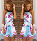 New Sexy Womens Summer Floral Jumpsuit Beach Party Dresses Playsuits Evening Sun