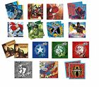 20 LUNCHEON NAPKINS - MARVEL/DC Designs (Tableware/Party/Kids/Birthday)