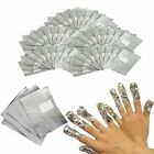 Nail Art Removal Foil Wraps Soak Off Gel Acrylic Shellac Polish Free P&P