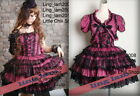 Dolly Gothic Punk Lolita Party Dress+Mini Jacket 61177 P