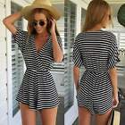 NEW Fashion Lady Womens  Sexy Short Sleeve Pants Jumpsuit Casual Romper Shorts