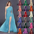 New One-Shoulder Bridesmaid Dress Long Prom Wedding Gowns Party Evening Formal