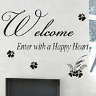 Welcome Quotes Lettering Window Wall Sticker/Wall Decal