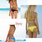 Summer Sexy Women Bikini Strappy Bra Swimsuit Bathing Suit Swimwear Set S M L