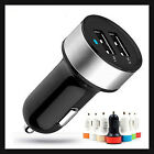 USB 2-Port for iPod iPhone 4 5S Samsung GALAXY Car Charger Adaptor Bullet Dual