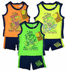 Boy's Toddler Born to Rock Frog Vest Top & Shorts Summer Set 9-30 mths NEW