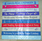 PERSONALISED BANNER for ANY OCCASION, FAST DESPATCH birthday, wedding, hen, stag
