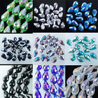 Fashion Jewelry Top Quality Czech Crystal Faceted Drop Beads 10x14MM SBA001