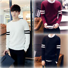 New Men's Korean Knitwear Dress Casual Slim Pullovers O-Neck Cardigan Sweaters