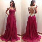 &&& NEW deep V-neck lace dress party dress red wedding dress of choice  &&&