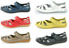 LADIES DOWN TO EARTH LEATHER CASUAL SHOES IN 4 DIFFERENT COLOURS STYLE F3095
