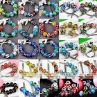 10x Mixed Handmade Lampwork Murano Glass European Charm Beads Fit Snake Bracelet