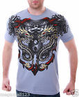 Artful Couture T-Shirt Tattoo Rock AG44 Sz M L XL XXL Dragon Street Biker mma