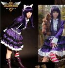 League Legends LOL the Dark Child Annie COSPLAY Purple Dress costume