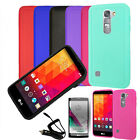 Phone Case For LG Volt 2 LS751 Matte Hard Cover Car Charger Screen Guard