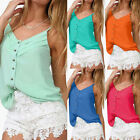 Women New Sexy Sleeveless Loose Singlet Cami Vest Tank Sheer Tops Blouse T-shirt
