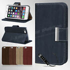 Luxury Leather Flip Wallet Slim Case Cover For New Apple iPhone 6 & 6 Plus