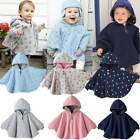New Reversible Baby Girls Boys Poncho Cloaks Cape Warm Jacket newborn to 24M