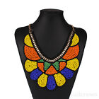 Colorful Geography Beads Charm Bohemian Chain Chunky Choker Statement Necklace