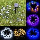 New Solar Power Waterproof 50 LED String Lights Peach Blossom Shape Party Decor
