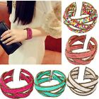 Chic Bohemia Style Colorful Bead Cuff Multilayer Womens Wrap Bangle Bracelet New