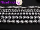 "Round Silver Hematite Loose Beads For Jewelry Making 15""DIY 2mm 4mm 6mm 8mm-12mm"
