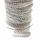 Curb Link CHAIN 7mm x 5mm - Silver Tone - 2, 3, 4 or 5 Metre Lengths