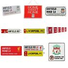 LIVERPOOL FC METAL SIGNS (Metal Door Sign, Street Sign)Official Club Merchandise