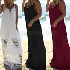 36-54 Oversize Boho Damen Spitze Geblümt Strappy Maxikleid Party Strandkleid