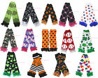 EdSt Patrick Clover Halloween Skull Dot Star Camo girl cotton leg warmer legging