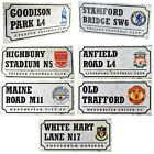 OFFICIAL FOOTBALL  CLUB RETRO STREET SIGNS (metal sign)Official Merchandise