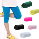 Summer Girls Pants Candy Color Knee Length Short Pants Sport Casual Trousers New