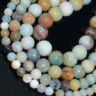 """2,4,6,8,10,12mm Natural Colorful Amazonite Round Beads 15.5"""""""