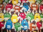 Red Green Blue Yellow Brown Orange M&M M and M candy fabric curtain Valance