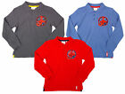 Boys Official Marvel Ultimate Spiderman Long Sleeve Cotton Polo Top 3 to 8 Years
