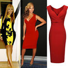 Fashion Womens Ladies Sexy Bodycon Cocktail Party Evening Slim Dresses Size 8-16