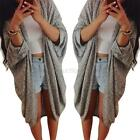 Women Casual Oversized Knit Sleeve Sweater Coat Polyamide Cardigan Jacket Tops