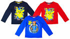 Boys Official Hangtag Pokemon XY PikaChu Long Sleeve Top 3 to 8 Years NEW